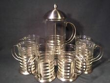 Silver Colour Coffee Maker Cafetiere with 6 cups (ref W054)