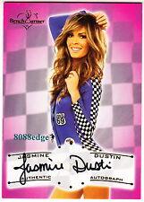 2011 BENCHWARMER RACER GIRL AUTO: JASMINE DUSTIN #2 AUTOGRAPH - MAXIM/FHM/GQ