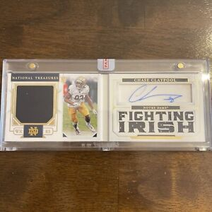 2020 National Treasures Collegiate #17 Chase Claypool BOOKLET ROOKIE PATCH AUTO
