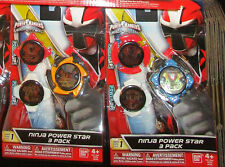 POWER RANGERS NINJA STEEL NINJA POWER STAR 3 PACKS MYSTIC SAMURAI 43752 43753