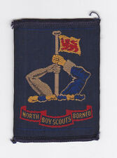 OLD SCOUTS OF NORTH BORNEO - SCOUT NATIONAL EMBLEM PATCH ~ EXT+++ VERY SCARE
