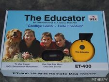 E-Collar Technologies The Educator ET-400 Remote Off Leash Dog Training 3/4 Mile