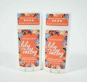 2 Schmidt's LILY OF THE VALLEY Natural Deodorant SENSITIVE SKIN 3.25 oz