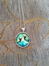FREE GIFT BAG Disney Tinkerbell Fairy Necklace Chain Peter Pan Silver Jewellery