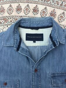 FRENCH CONNECTION - Faded Blue - Denim - Button Cuff - Shirt - L