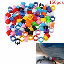 150Pcs Bird Rings Leg Bands for Pigeon Parrot Finch Canary Hatch Poultry Rings