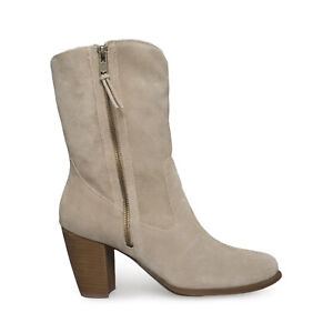 UGG LYNDA NATURAL SUEDE SHEEPSKIN HIGH HEEL ANKLE WOMENS BOOTS SIZE US 10 NEW