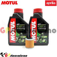 TAGLIANDO OLIO + FILTRO MOTUL 5100 15W50 APRILIA 550 SXV SUPER MOTO 2008