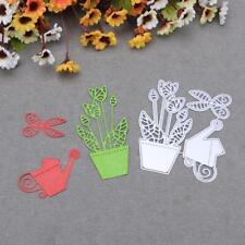 Scissor Flower Pot Metal Cutting Dies Stencils DIY Scrapbook Paper Card Handmade