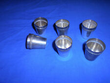 A SET OF 6 SILVER SMALL HAND CUPS---NICE ADDITION FOR COLLECTORS-lot 21
