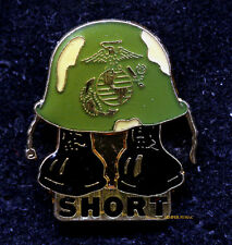 US MARINES DIGIT MIDGET SHORT TIMER USMC HAT PIN FMF USS Two-digit midget