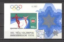 Olympic Games 1976 B29 Innsbruck block Magyar imperf CV 20 eur