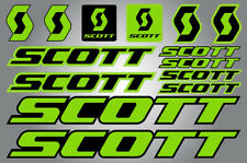 SCOTT PRINTED BIKE FRAME STICKERS DECALS SHEET BICYCLE CYCLING GREEN