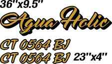 """new BOAT NAMES 6"""" x 36"""" Custom Made for you! + Free Registration Numbers! Text"""