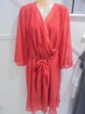 IGIGI (USA) NWOT sIZE 22 / 24 Red Spot Lined Lower Frill SPECIAL OCCASION DRESS
