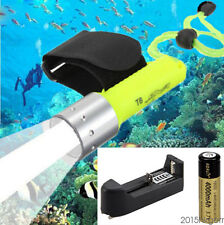 50M Underwater 2500LM CREE XM-L T6 LED Waterproof Diving Flashlight Torch 18650