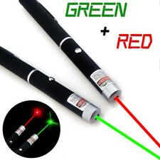2pcs Range 5mw RED + GREEN Laser Pointer Pen Visible Beam AAA Lazer NEW