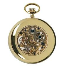 Rapport Oxford Mechanical Skeleton Moon Phase Pocket Watch Gold Plated