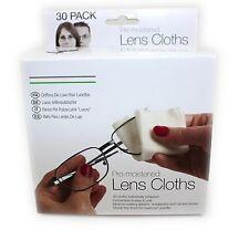 30 x Optical Lens Wipes Glasses Spectacles Camera Monitor Phones Ipad Sunglasses