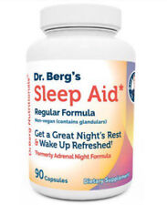 NEW Dr. Berg's Sleep-Aid-Formerly-Adrenal-Night-Formula-Supplement-90Capsules