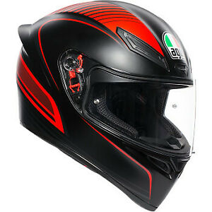 AGV Motorcycle K1 Helmet Warmup Matte Black/Red  All Sizes