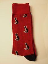 1 Pair of Socks Cats, Animals Men Women Crew Novelty New Fun Happy Red Black