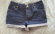 River Island hotpants shorts denim summer festival size 8