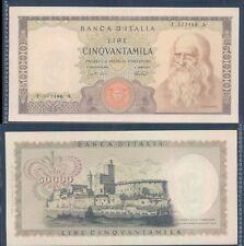 """REPUBBLICA ITALIANA 50.000 LIRE """"LEONARDO""""DEC.16/05/1972""""STUPENDO""""RARO 2  A."""