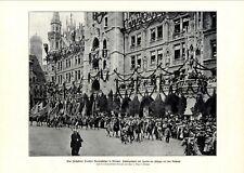 Bundesschießen München XL Fotoabb. 1906 Marienplatz Rathaus Schützenverein Umzug