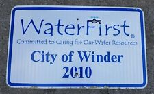Water First City of Winder Georgia Large Street Sign 30 X 18 GA 2010