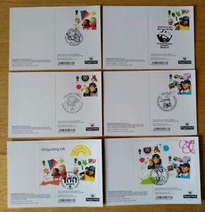 2010 Girlguiding UK Guides PHQ POSTCARDS USED BACK