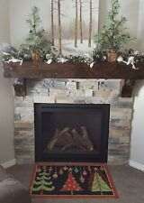 Fireplace Mantel Shelf Beam Rustic Barn Wood Salvaged Knotty Alder Reclaimed