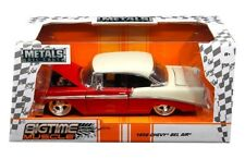 1/24 Jada 1956 Chevrolet Bel Air Red w Top Trunk White BigTime Muscle Red 98940