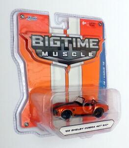Jada Bigtime Muscle 1/64 Scale 12006 - 1965 Shelby Cobra 427 S/C - Met Orange