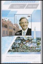 ARGENTINA-STAMPS-2011-NESTOR KIRCHNER-SOUVENIR SHEET-NOT ADOPTED DESIGN-RARE-