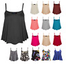 Womens Ladies New Camisole Cami Plain Strappy Swing Vest Top 6 8 10 12-24 CamiSm
