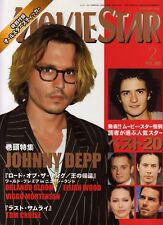 """""""Movie Star"""" 2004 Feb 2 Magazine Japan Book The Lord of the Rings Johnny Depp"""