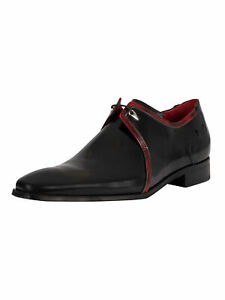 Jeffery West Men's Polished Leather Brogue Shoes, Black