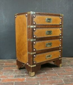 Military Brass 4 Draw Campaign Chest Occasional Side Table