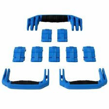 New Pelican Blue 1650 replacement latches (7) & handles (3) - kits.