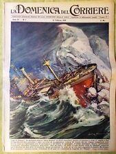 La Domenica del Corriere 15 Febbraio 1959 Titanic Cardenas Cardinale Fumo Lewis