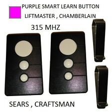 Sears Craftsman 139.53753 3 button Garage Door Opener remote Control 315 mhz 2pk