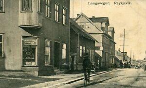 Iceland Reykjavik - Laugavegur old postcard
