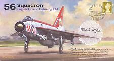 AV600 56 Squadron Lightning Firebirds RAF cover signed ACM GRAYDON