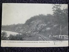 1910 Horseshoe Curve & Shenandoah River in Front Royal, Va Virginia PC