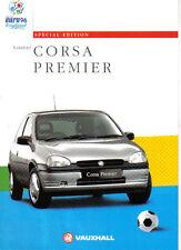 Vauxhall Corsa Premier Special Edition 1996 Original Sales Brochure No. V10421