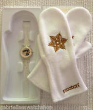 SNOW YOUR TIME AWAY! Gold Swatch LTD# 9999 Pc. X-MAS Special! NIP-RARE!