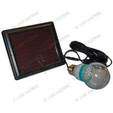 Kit Lampadina a Led Bianchi 1 Watt + Pannello Solare con Batteria Ricaricabile