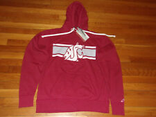 NWT WASHINGTON STATE COUGARS LONG SLEEVE HOODIE MENS SMALL