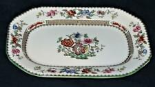 "Copeland Spode CHINESE ROSE 629599 Green Trim Floral Rectangular Platter 9 1/2"""